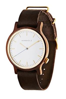 Kerbholz - Walter Herren-Armbanduhr Leder