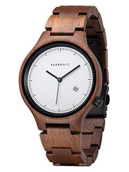 Kerbholz - Lamprecht Walnuss Holz-Armbanduhr