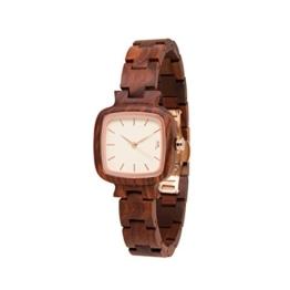 STADTHOLZ - Armbanduhr Lausanne Safirglas aus rotem Sandelholz