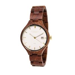 STADTHOLZ - Unisex Armbanduhr Holzuhr