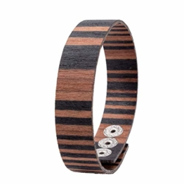 LAiMER Holzarmband - Damen & Herren Armband/Armreif aus Feinem Holz - Größenverstellbar 55-65 mm Durchmesser  aus Sandelholz 15 mm breit - 1