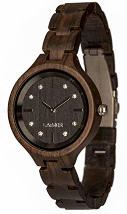 LAiMER Holzuhr MARIA - Damen-Armbanduhr aus 100% Sandelholz und mit Swarovski Kristallen veredelt für einzigartige Kombination aus echter Natur und Luxury Lifestyle - natürlich, edel, Südtirol - 1