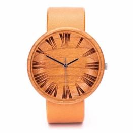 Holz Uhren Damen Von Ovi Watch | Holz Armbanduhr | Schweizer Uhren | Zero Waste Produkte | Quarz Holzuhr - 1