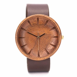 Holzuhr Männer Argus Von Ovi Watch, Minimalistisches Design, Nachhaltige Produkte, Armbanduhr Herren - 1