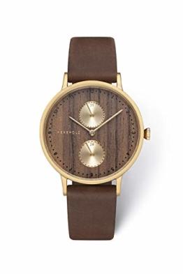 Kerbholz Damen Analog Quarz Uhr Mit Leder Armband 4251240405513 - 1