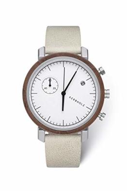 Kerbholz Herren Analog Quarz Uhr Mit Leder Armband 4251240407456 - 1