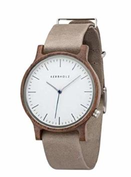 Kerbholz Unisex Erwachsene Analog Quarz Uhr mit Leder Armband 0705184599882 - 1