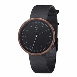 Kerbholz Unisex Erwachsene Analog Quarz Uhr Mit Leder Armband 4251240407531 - 1