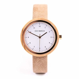 Ovi Watch - Damen Holzuhr mit Vegan Leder Armband - 1