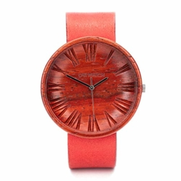 Ovi Watch - Rot Uhren Damen - Uhr aus Nachhaltigem Holz - 1