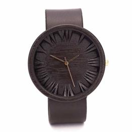 Ovi Watch - Schwarz Holz Uhr Herren - Swiss Quarz - 1