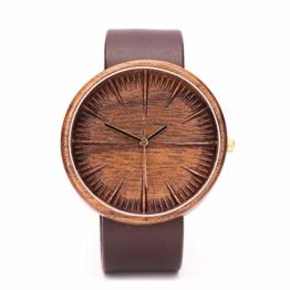 Walnuss Holzuhr Cursus Von Ovi Watch, Herrenuhr, Handgemacht, Geschenk für Männer - 1