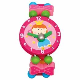 Bino Mädchenschmuck Kinderschmuck Holzschmuck Motiv Armbanduhr Fee Rosa - 1
