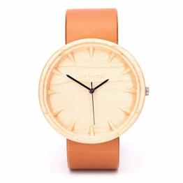 Damen Herren Unisex Holzuhr Tectona Von Ovi Watch | Handgefertigte Quarzuhr | 42mm Armbanduhr | Maple Wooden Watch | Eco Friendly Partner Geschenke - 1