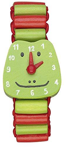 Die Spiegelburg Die Lieben Sieben Meine erste Armbanduhr aus Holz mit beweglichen Zeigern (Frosch Ole) - 1