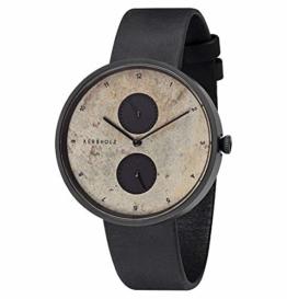 Kerbholz Unisex Erwachsene Multifunktion Quarz Uhr mit Leder Armband 4251240406985 - 1