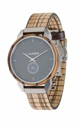 LAiMER Herren-Armbanduhr FERDI Mod. 0095 aus Zebranoholz - Analoge Quarz-Uhr mit flexiblem Holzarmband - 1
