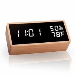 meross LED Wecker digitaler Wecker, Tischuhr mit Akustik Steuerung, Datum, Temperatur und Luftfeuchtigkeit, für Zuhause, Schlafzimmer, Kinderzimmer und Büro - 1