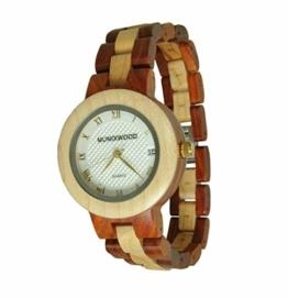 Munixwood Holzarmbanduhr Ginger Sandelholz mit Uhrenbox - 1