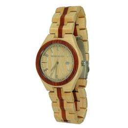 Munixwood Holzarmbanduhr Redline Ahornholz Datum und Uhrenbox - 1