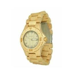 Munixwood Snow Holz Armbanduhr Ahornholz mit Datum und Uhrenbox - 1