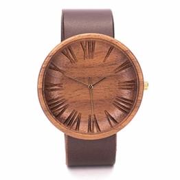 Ovi Watch - Holzuhr Herren - 42mm mit Schweizer Uhrwerk - 1