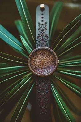 Ovi Watch - Mandala King   Hochwertige Handgefertigte Uhr aus Nussbaumholz mit Mandala-Symbolen   Schweizer Uhrwerk & Saphir Glas   - 1