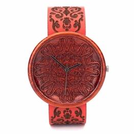 Rot Holzuhr Amare Von Ovi Watch   Damenuhr   Uhr aus nachhaltigem Holz - 1