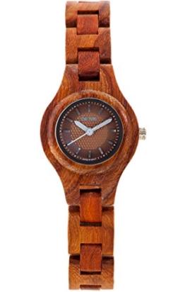TENSE Holzuhr Damen Katalox Leadwood Ø 26 mm Armbanduhr Pacific analog Quarz L7509R-BR - 1