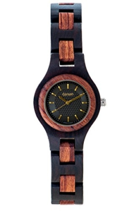 TENSE Holzuhr Damen Leadwood Katalox Ø 26 mm Armbanduhr Pacific analog Quarz L7509DR-BG - 1
