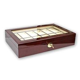 Uhrenhuette Holzkassette Klavierlack für 12 Uhren - 1