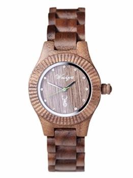 Waidzeit GA03 Premium Gams Uhr Damenuhr Holz Holz Analog Braun - 1