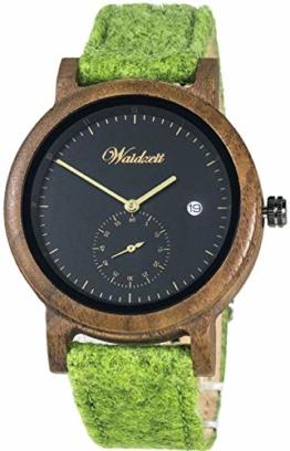 Waidzeit XY01_20LOGG Quarzuhren Holz Armbanduhren - 1