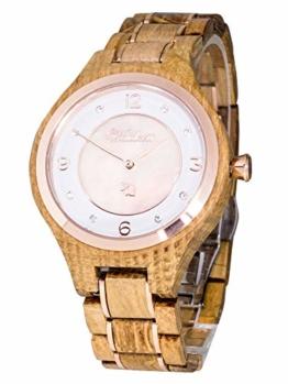 Waidzeit YR03 Weinprinzessin Rosé Uhr Damenuhr Holz Holz 0 bar Analog braun - 1