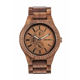 WEWOOD Herren Analog Quarz Smart Watch Armbanduhr mit Holz Armband WW30004 - 1