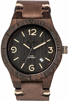 WEWOOD Herren Analog Quarz Smart Watch Armbanduhr mit Leder Armband WW08008 - 1