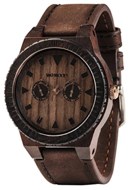 Wewood Herren Analog Quarz Smart Watch Armbanduhr mit Leder Armband WW37005 - 1