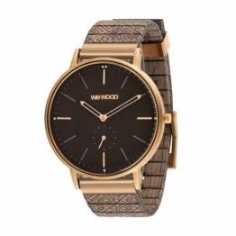 WEWOOD Herren Analog Quarz Uhr mit Holz Armband WW63004 - 1