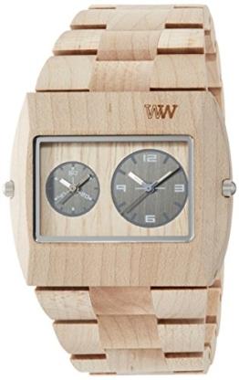 Wewood Herren-Armbanduhr Jupiter Analog Quarz One Size, silberfarben, beige - 1