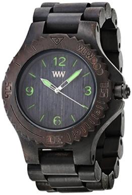 Wewood Herren-Armbanduhr Kale Analog Quarz One Size, schwarz, schwarz - 1