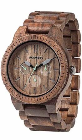 WeWOOD Herren Armbanduhr Kappa NUT mit Holz Armband Nr.WW15005 - 1