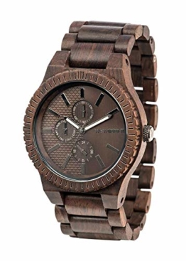 WEWOOD Herren Chronograph Quarz Smart Watch Armbanduhr mit Holz Armband WW30003 - 1