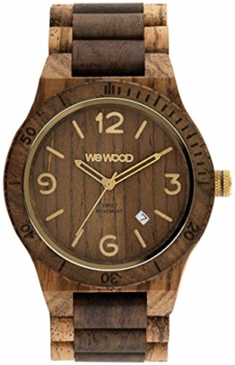 WeWood Herren-Uhr Alpha SW Zebrano Choco Rough WW08011 - 1