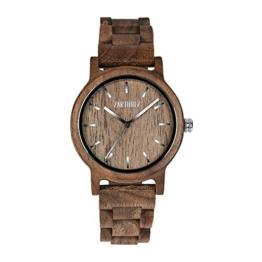 ZARTHOLZ Herren Damen Unisex Holzuhr Holz-Armbanduhr Klassik (Walnussholz) - 1
